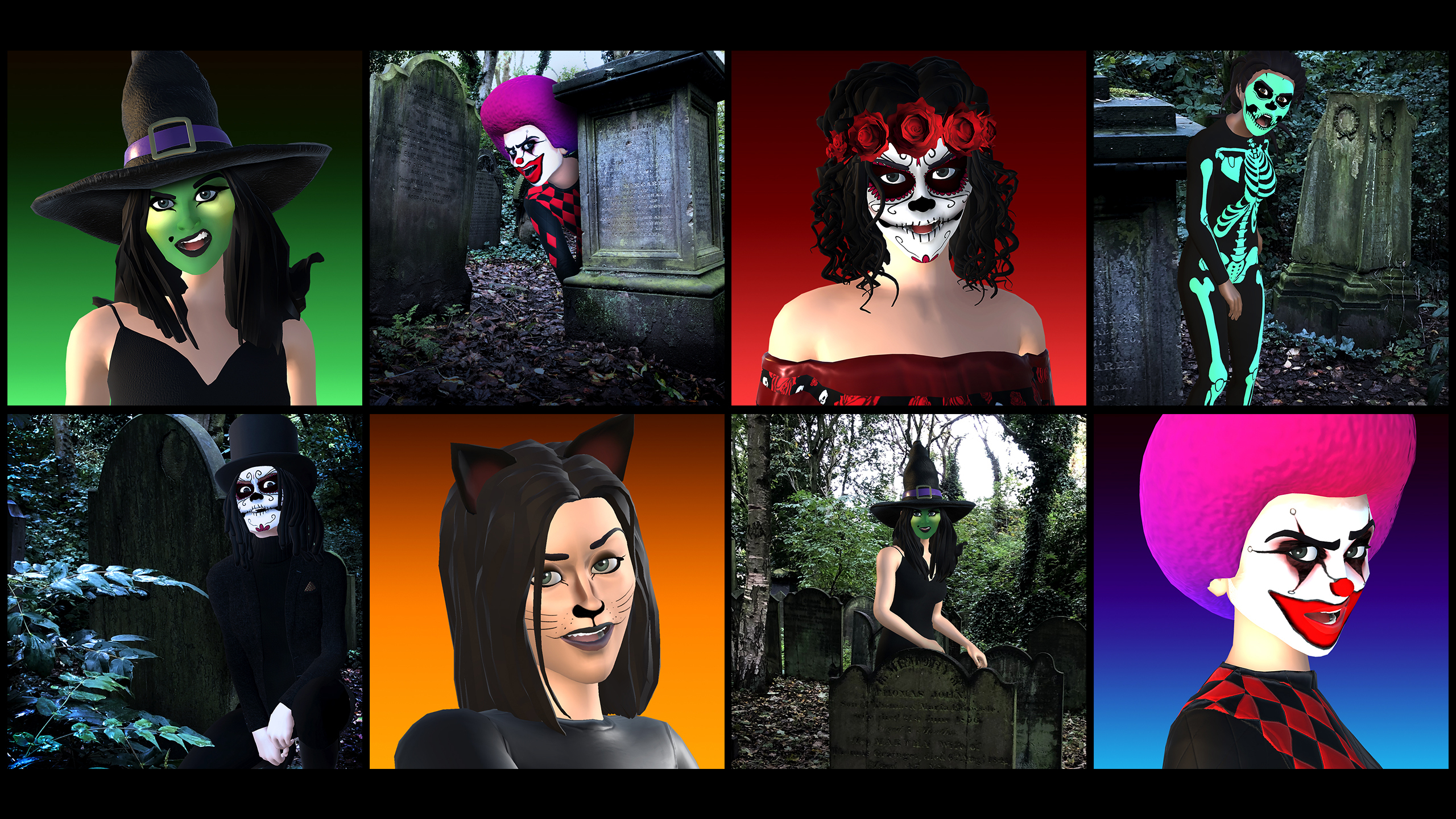 Halloween Grid Image