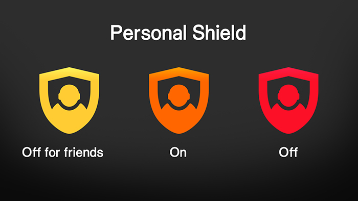 V Time Personal Shield Icons